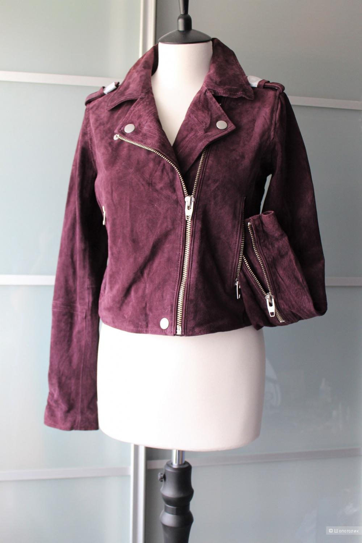 Замшевая куртка-косуха размер S