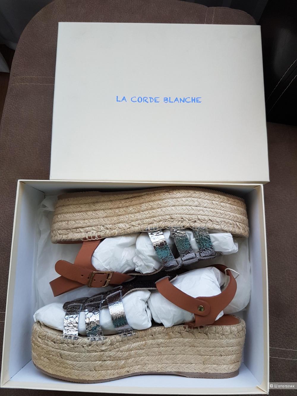 Сандалии LA CORDE BLANCHE, 40 р (на 39 - 39,5 )