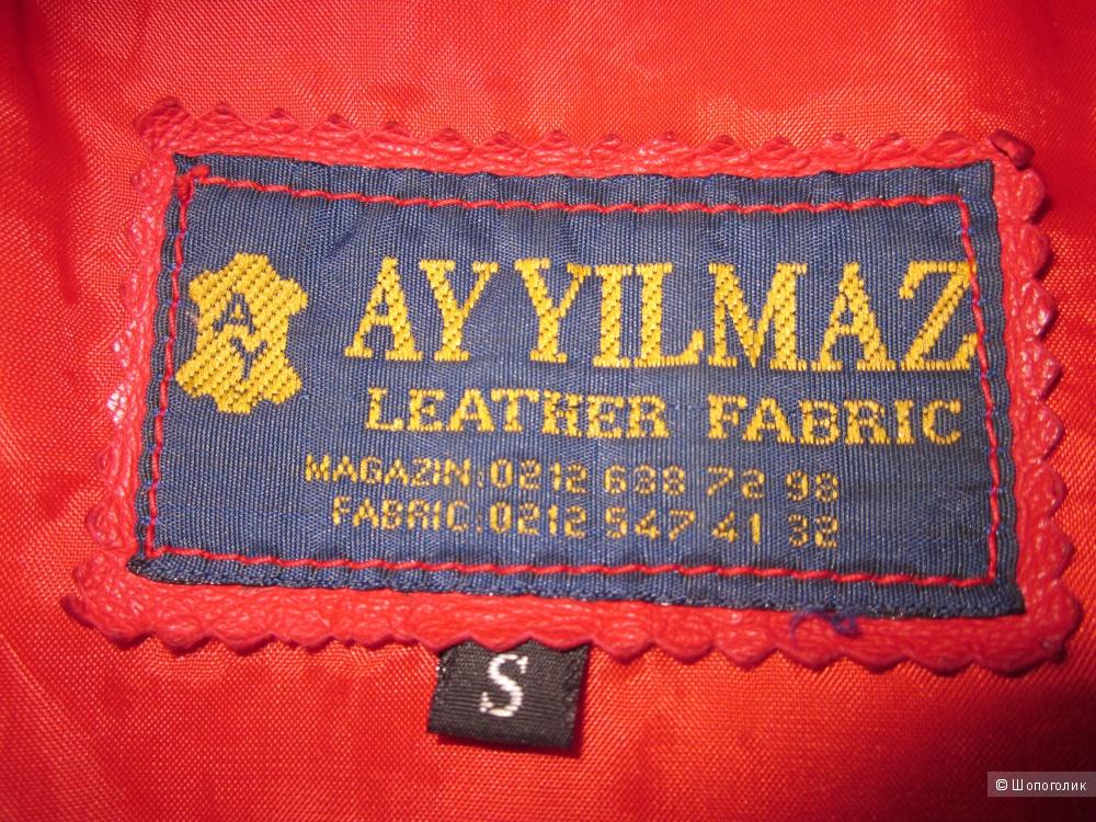 Кожаный пиджак, размер S ( рус. 42)
