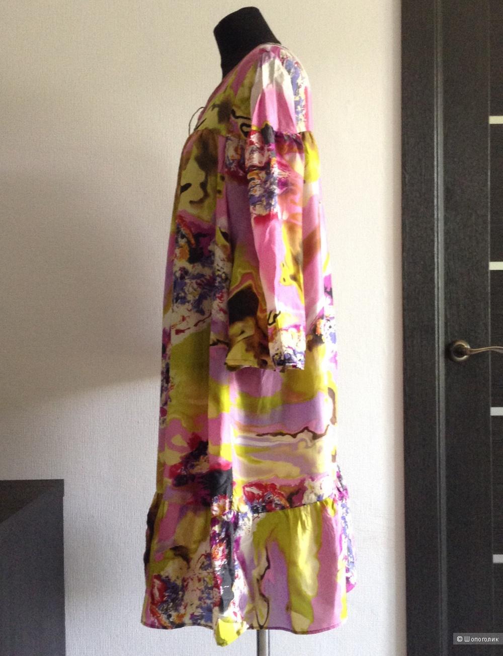 Шелковое платье Glance, размер 48-50