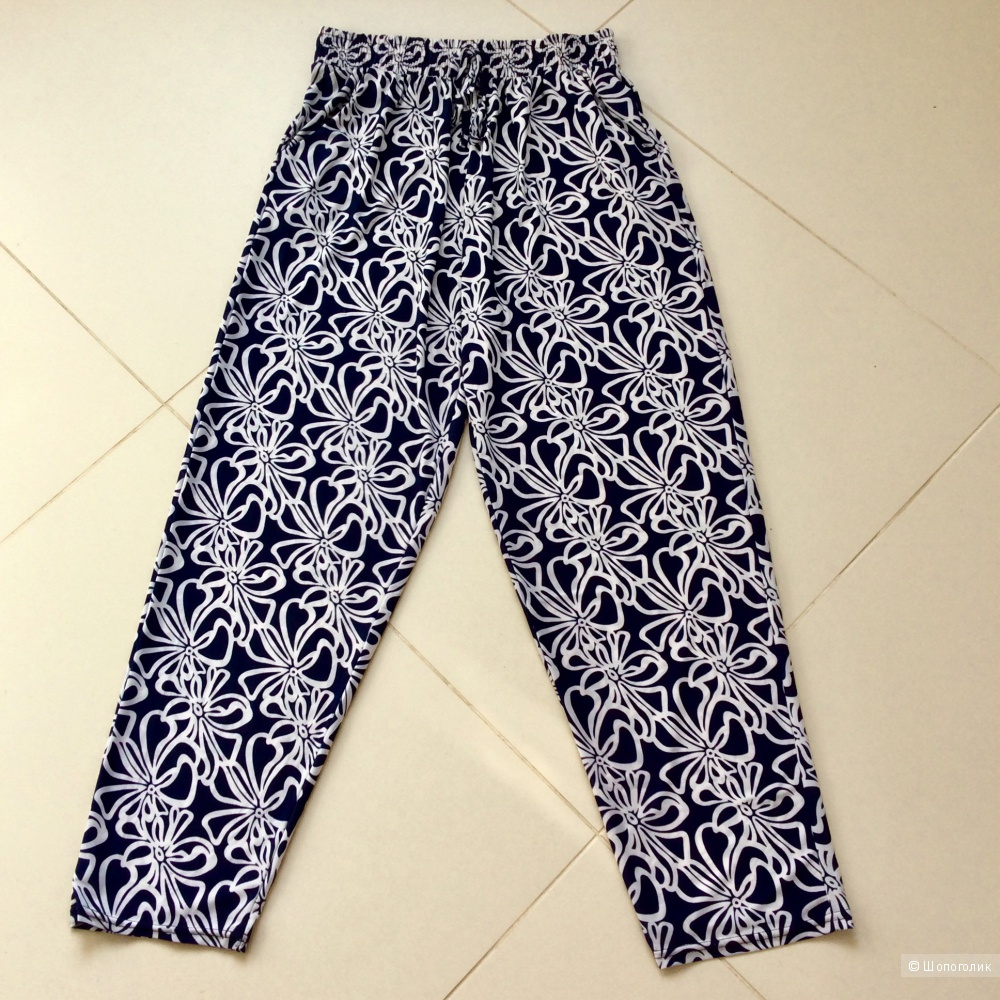 Летние брюки no name р.46-50 (на невысокий рост)