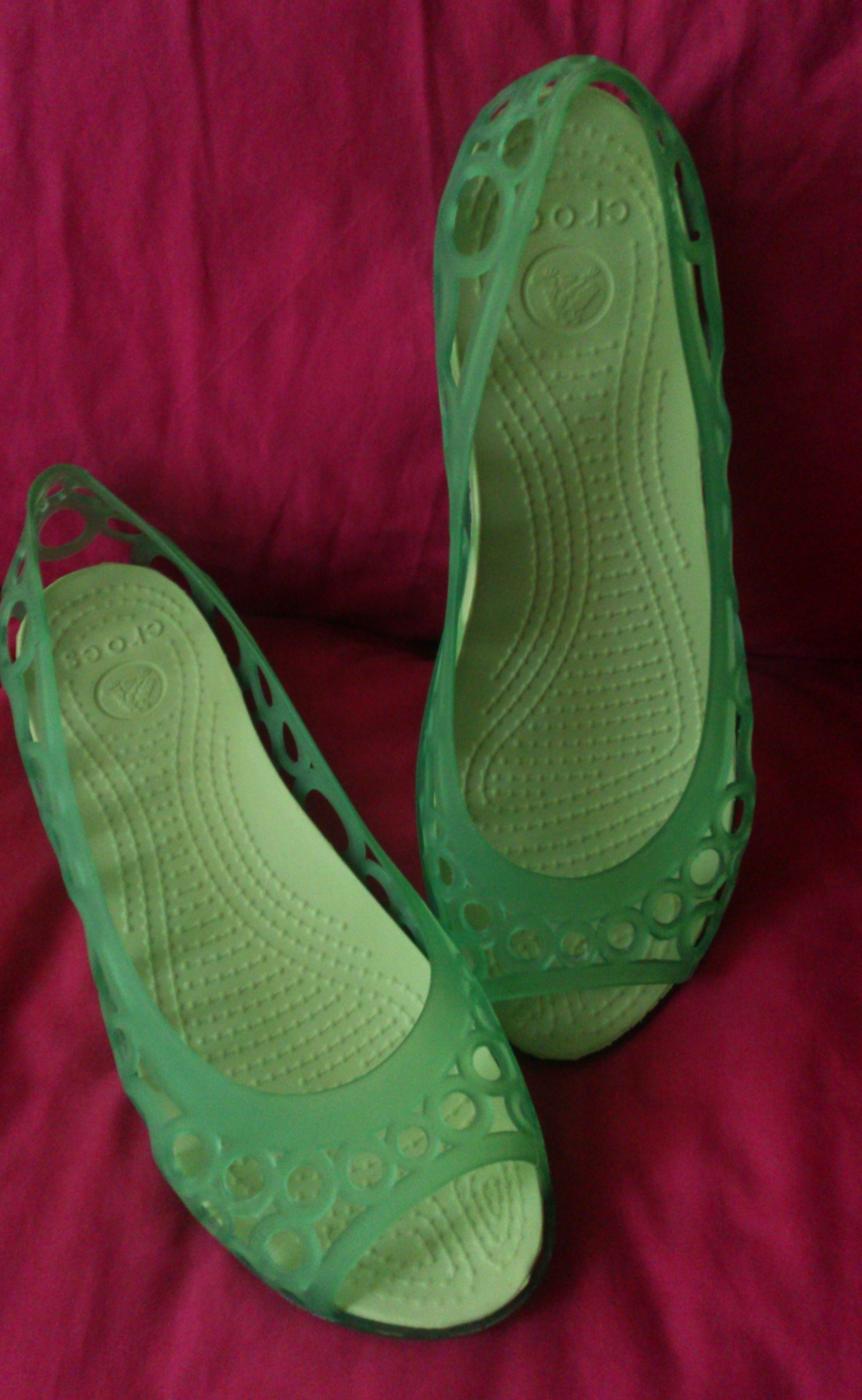 Балетки Crocs, размер W7  на стопу 23,8 - 24 см