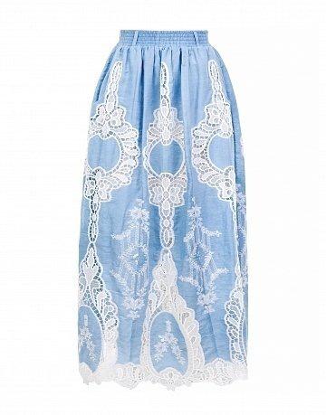 Кружевная хлопковая юбка Lo, размер 42.