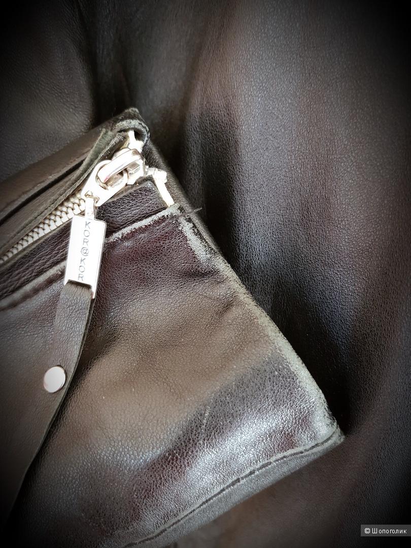 Куртка кожаная Kor@kor размер 46