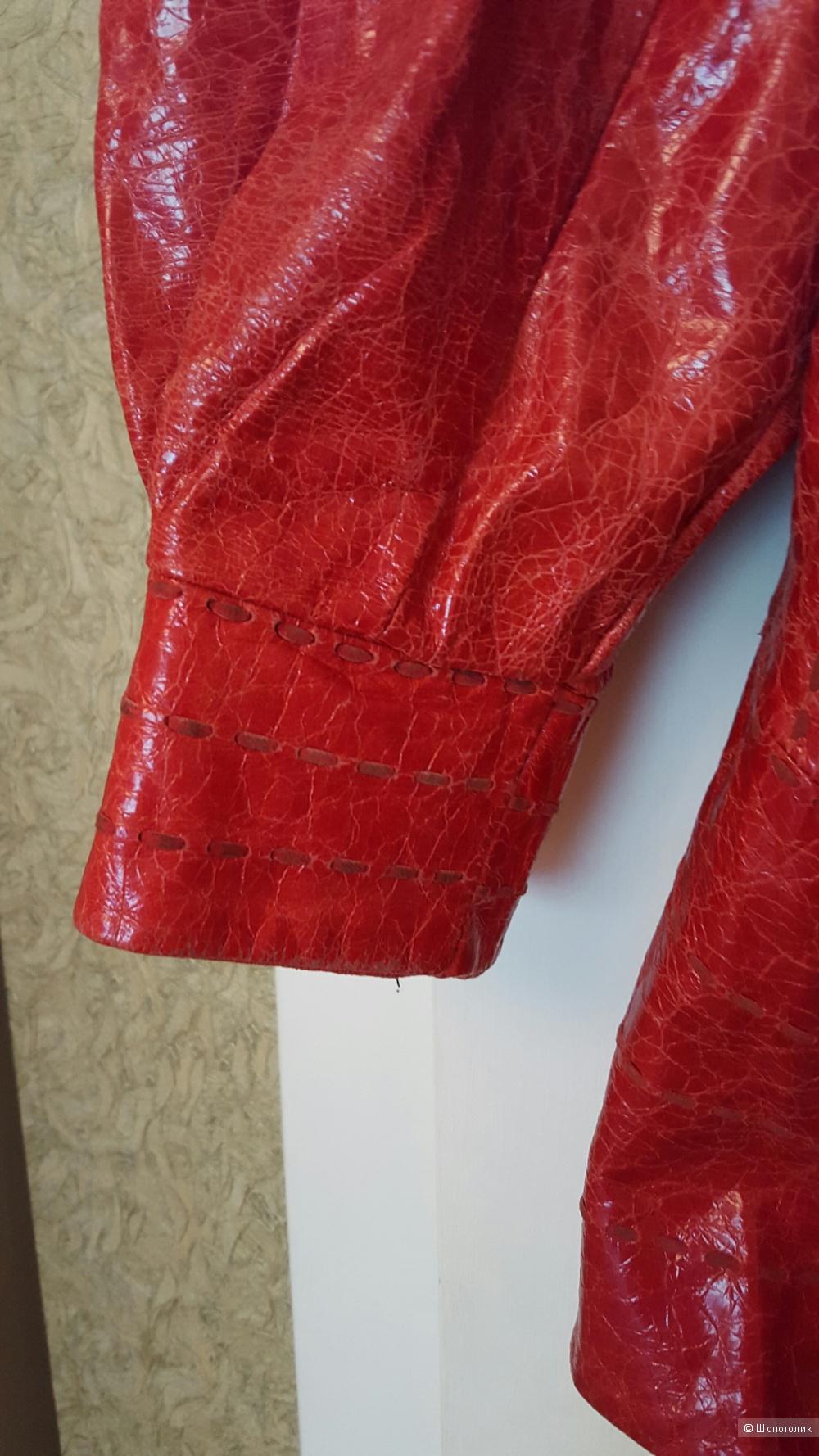 Кожаная куртка Silvio tossi, размер 48 (ru).