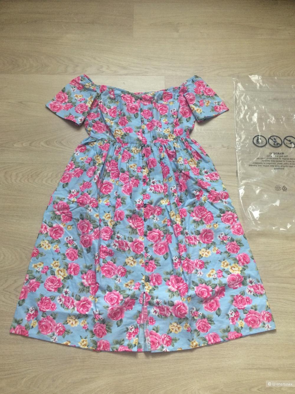 Летнее платье Asos , U.K. 12, рус. 46-48