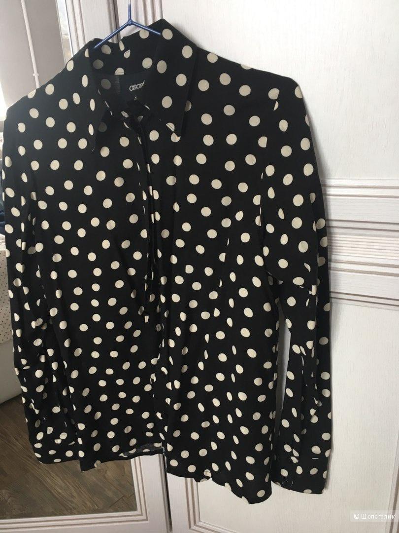 Блузка в горох Asos UK6