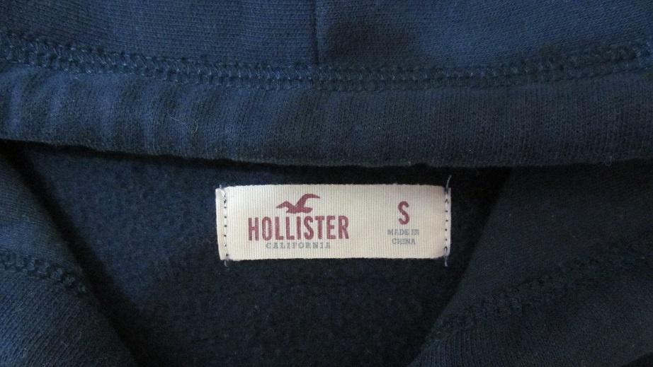 Толстовка с капюшоном на молнии, разм. s, hollister