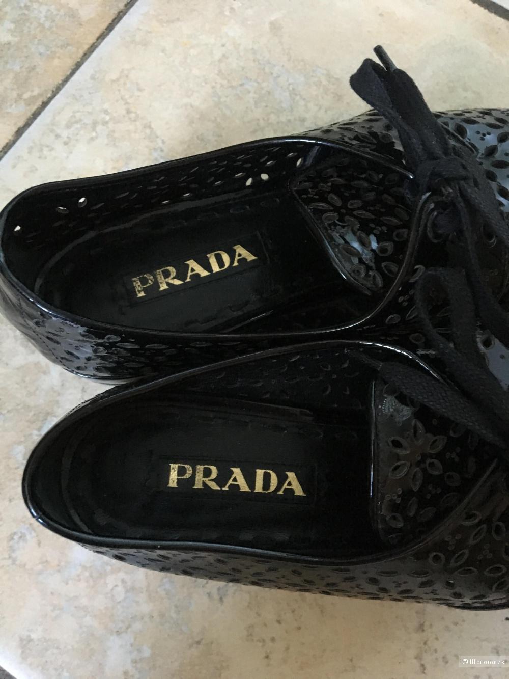 Броги с перфорацией Prada, размер IT 37.