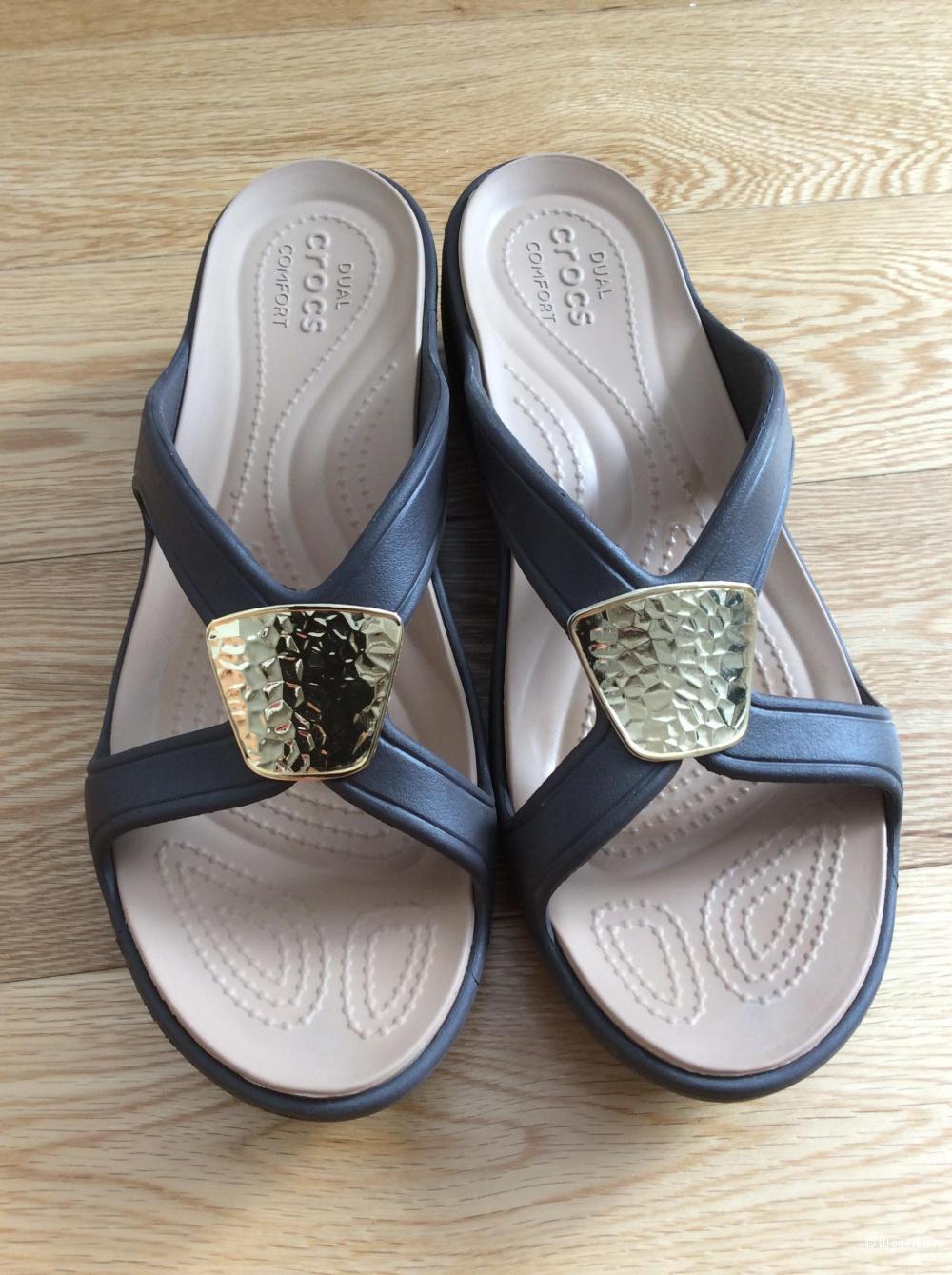 Пляжные шлёпанцы Crocs р.W9 (на стопу 25,5-26 см)