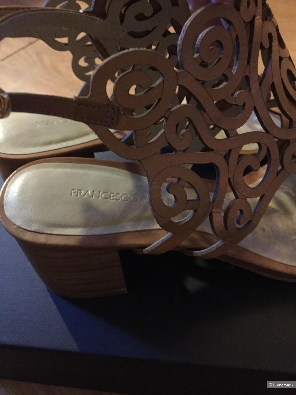Босоножки из перфорированной кожи Fracesco Donni 38 размер