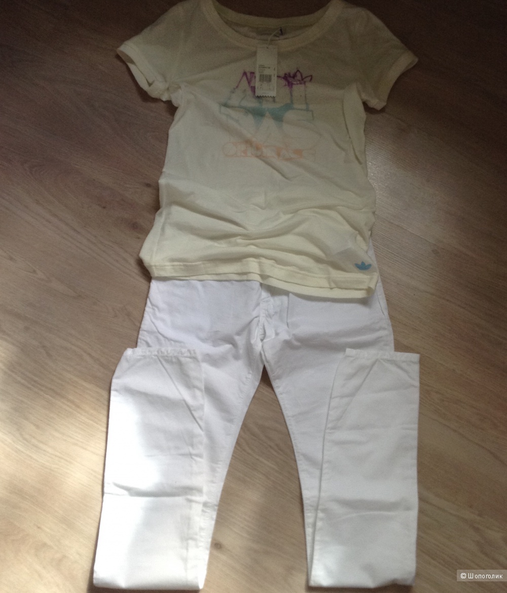 Комплект Брюки Zu Elements, размер 28, футболка no name, размер 44-46, футболка adidas размер 44-46