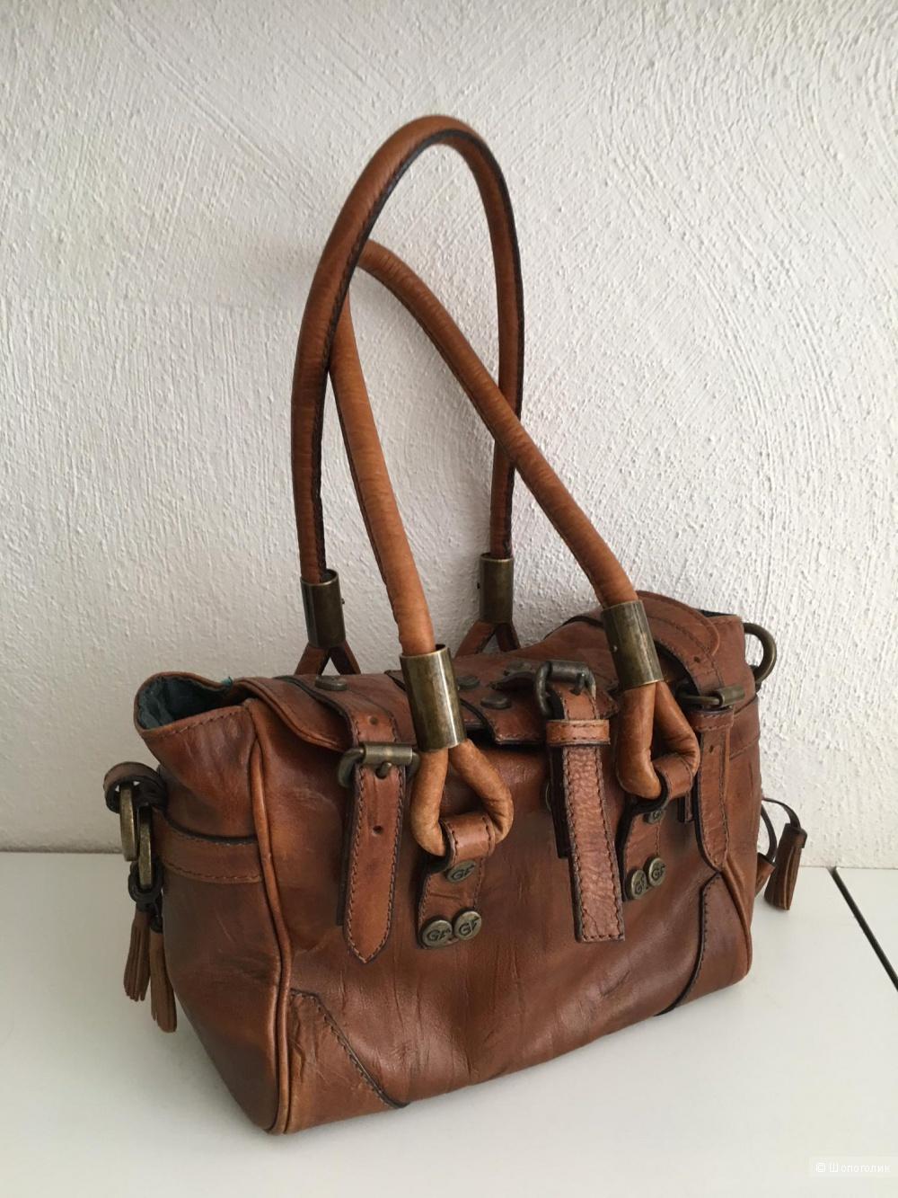Кожаная сумка Gianfranco Ferre