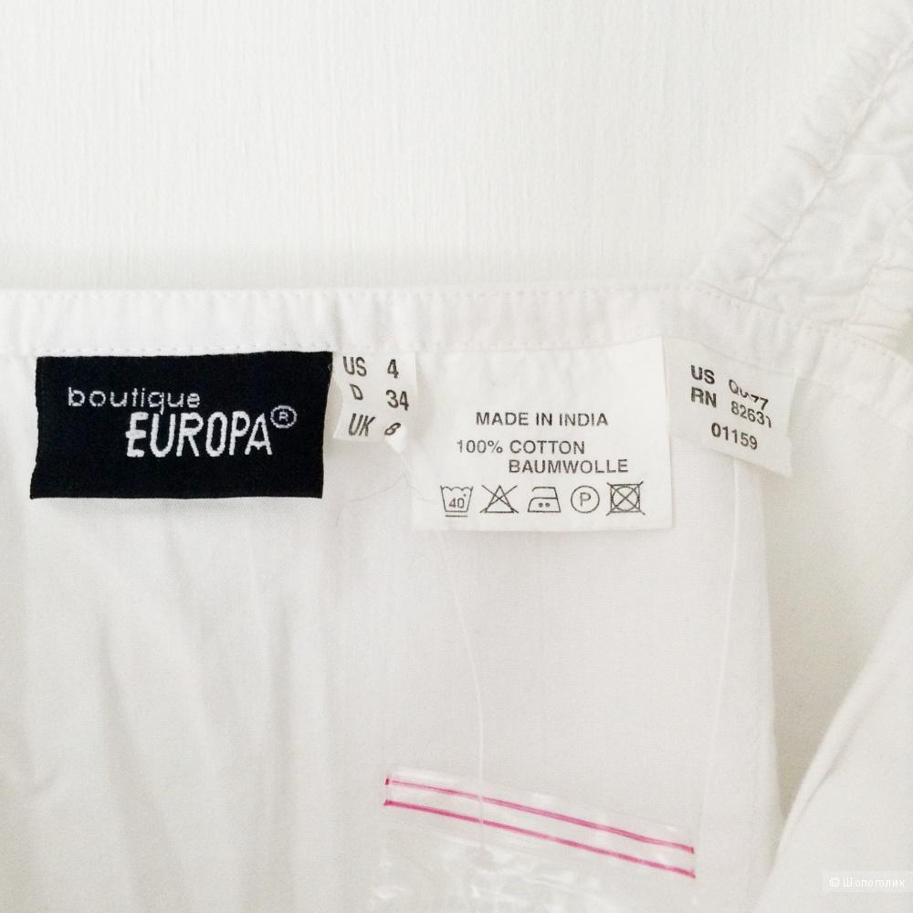 Хлопковый топ Boutique Europa, S