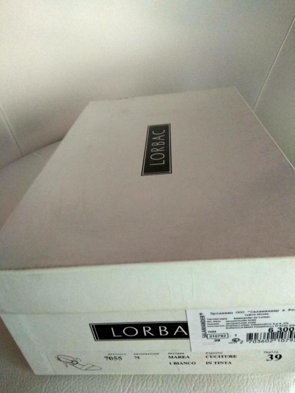 Босоножки  LORBAC, размер 39, на длину стопы 25 см