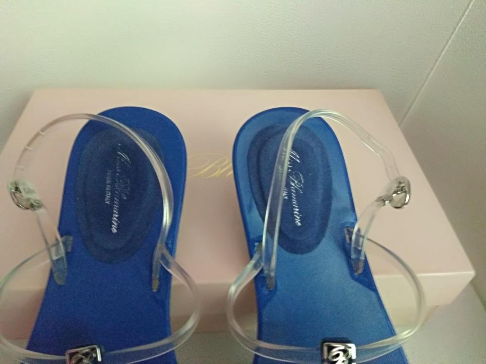 Босоножки  Miss Blumarine, синие, размер 38, на длину стопы до 25 см