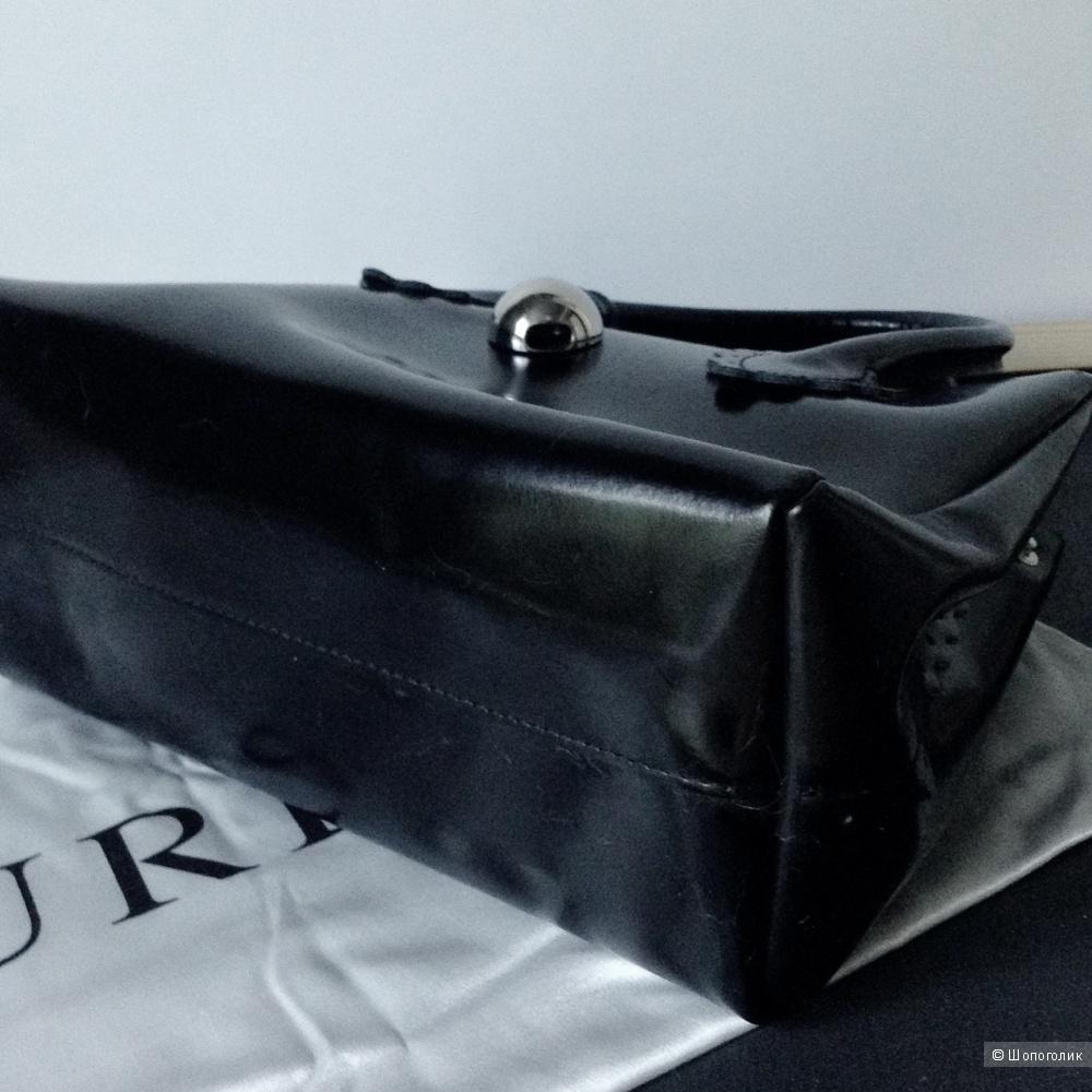 Лакированная кожаная сумка Furla