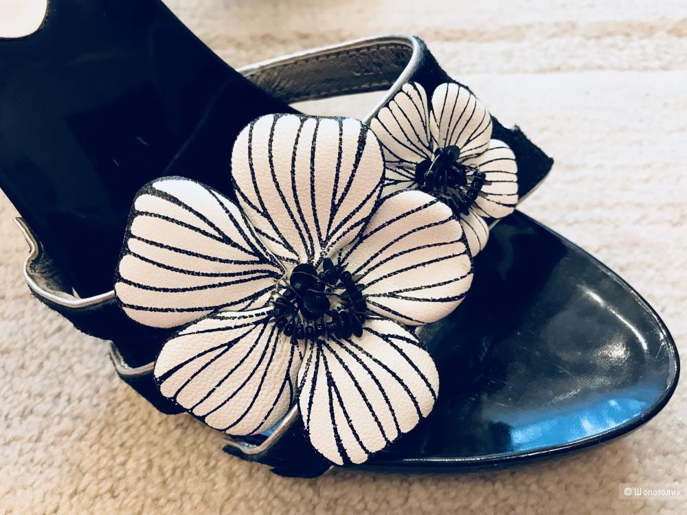 Сабо на каблуке,Glamour,размер 40