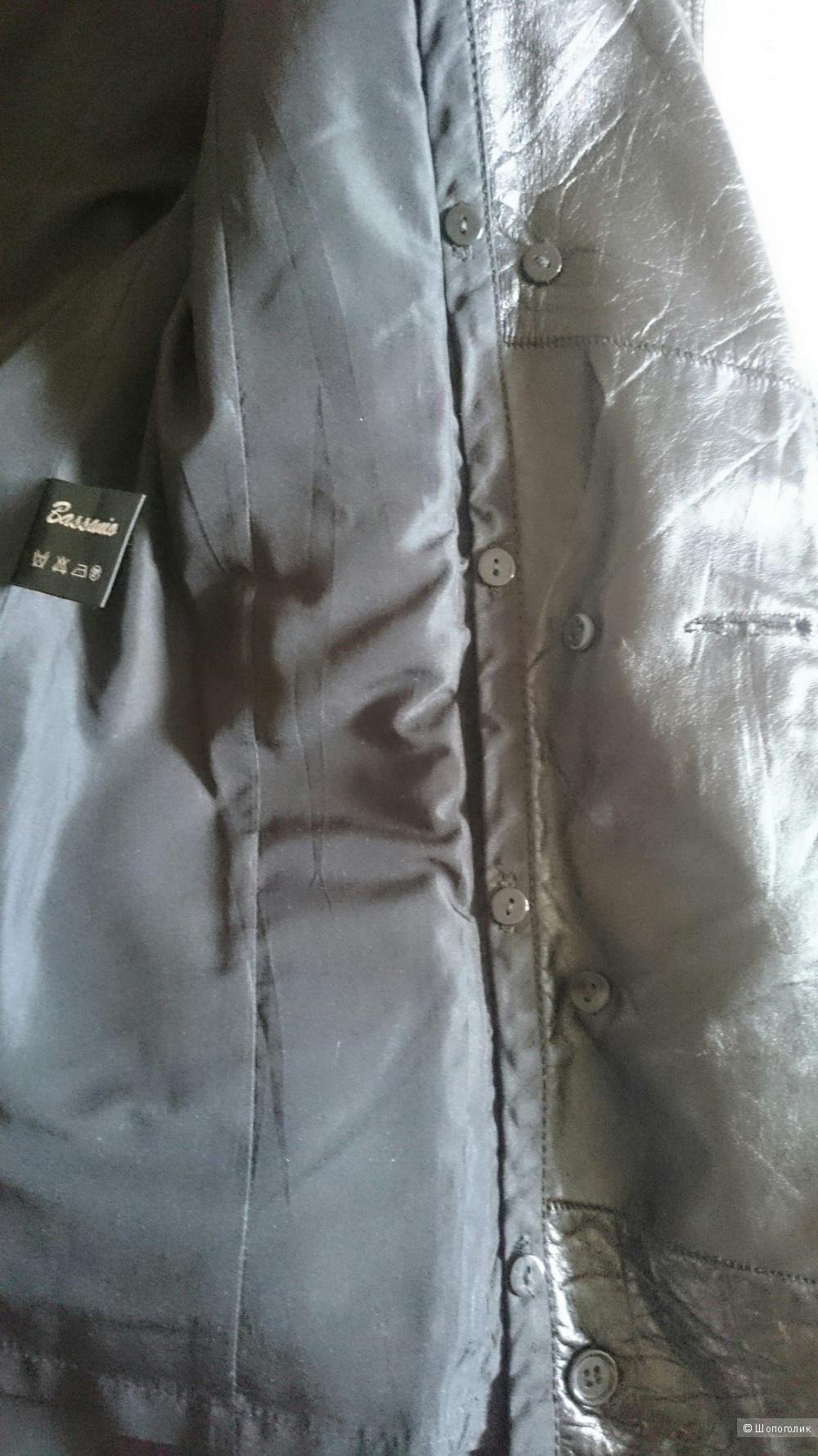Кожаное пальто Bassanio Осень+Зима с меховой подкладкой размер 42/44