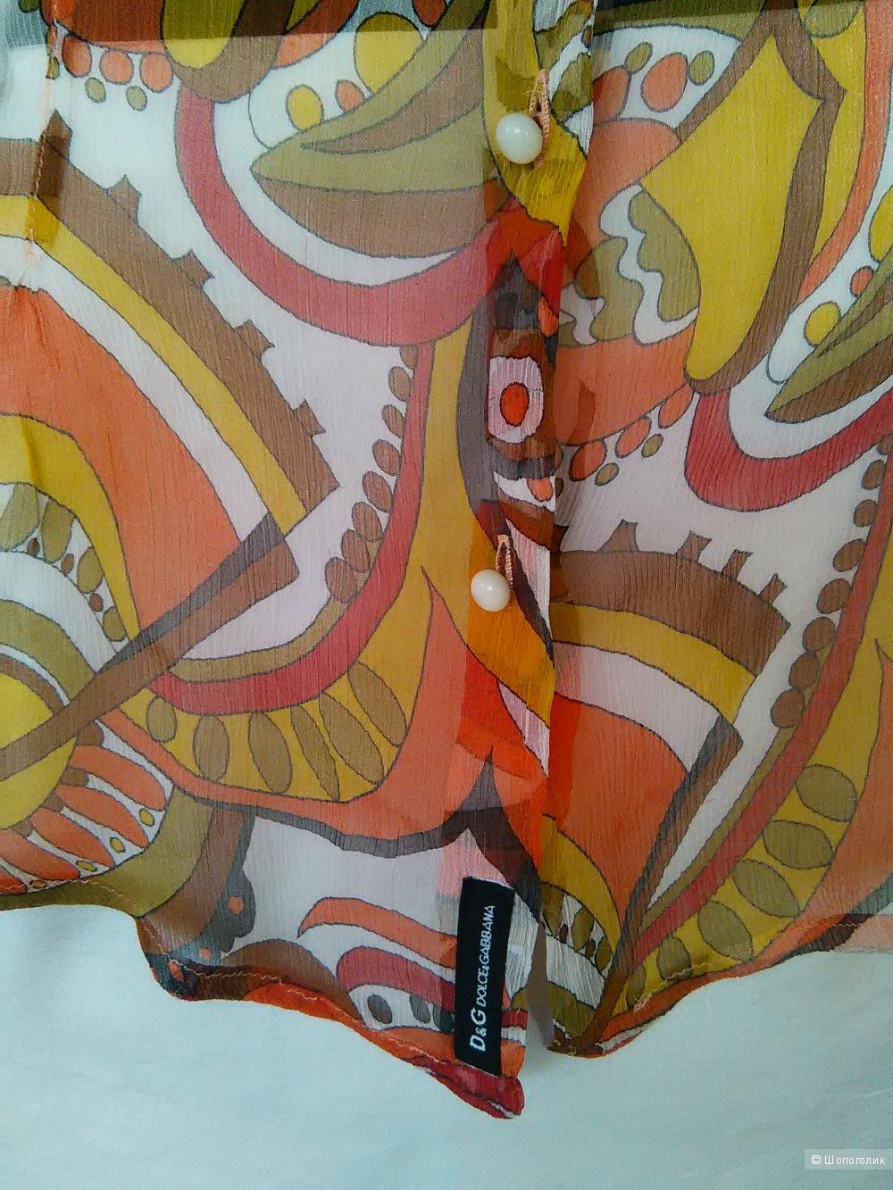 Блузка шелковая D&G, размер М