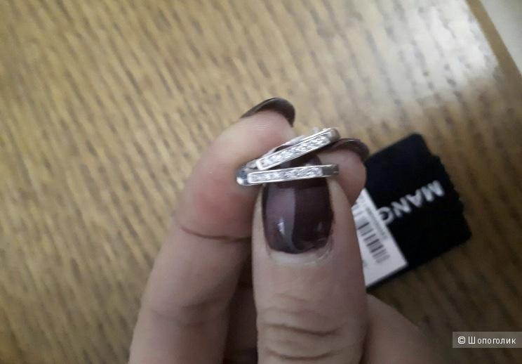 Серебряные серьги Mangushev
