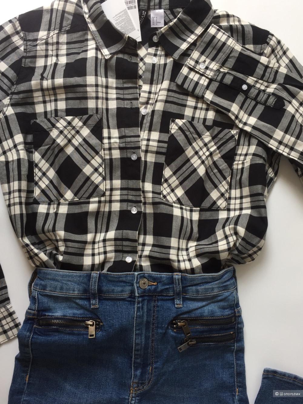 Комплект джинсы hm размер 42/44 и рубашка hm размер 42