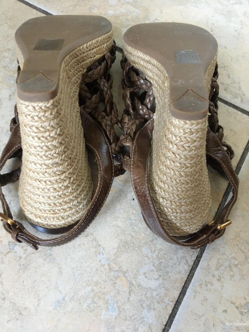 Босоножки-эспадрильи Prada, размер IT 36,5
