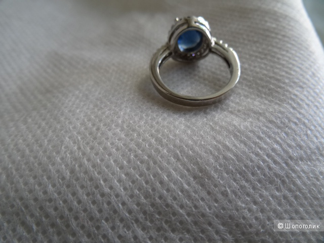 Комплект из серёжек и кольца, размер 17,5