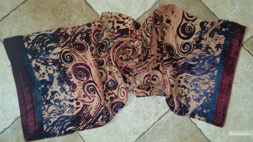 Шелковый шарф 163 см *40 см