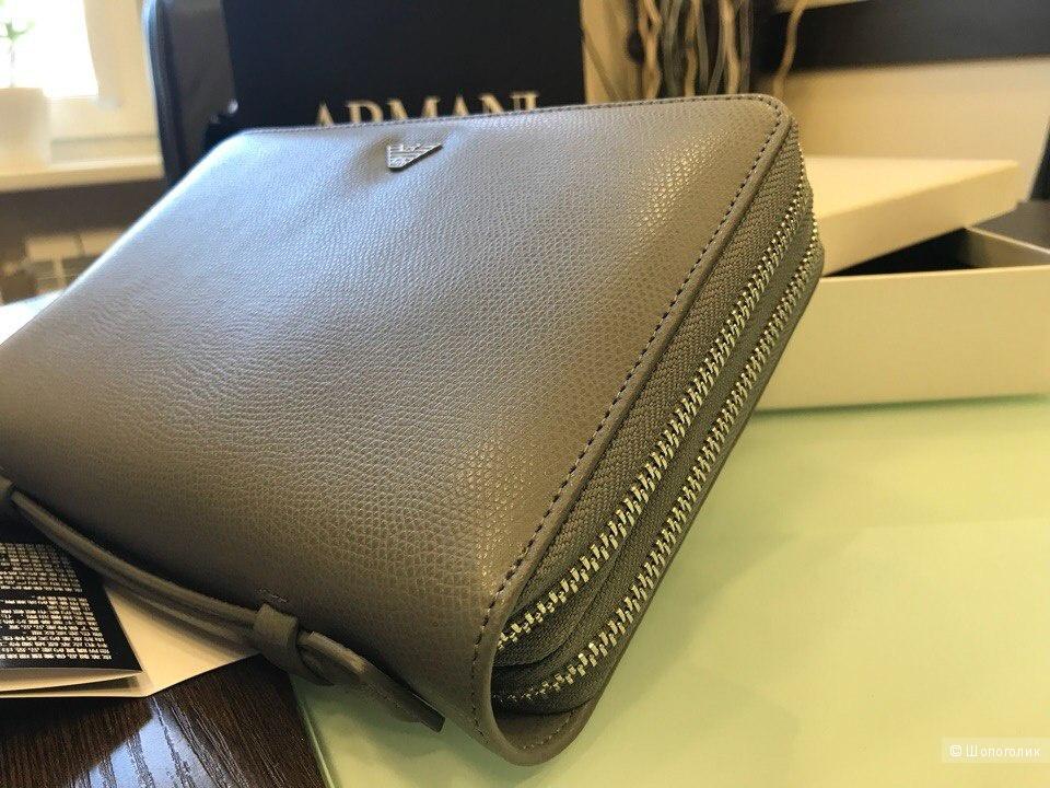 Мужской кошелек сумка Emporio Armani, размер 22 см х 14,5 см