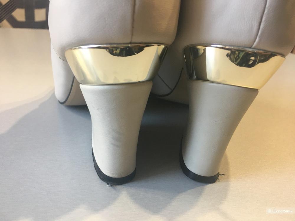 Летние кожаные полуботинки, размер 39, 24,5 см по стельке