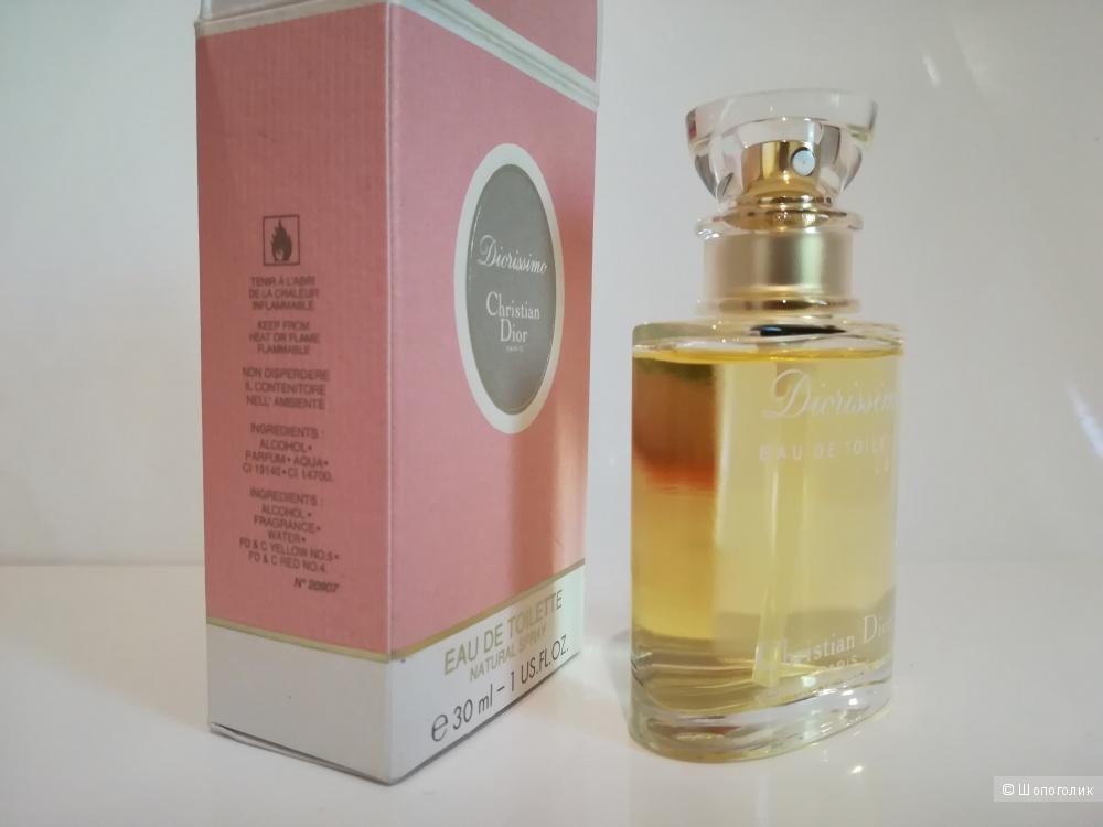 Полнообъемный флакон - Diorissimo Christian Dior 30 мл.