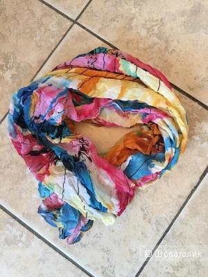 Палантин-шарф, 100% шелк