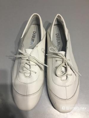 Кожаные мокасины на шнурках, размер 40, по стельке 25 см