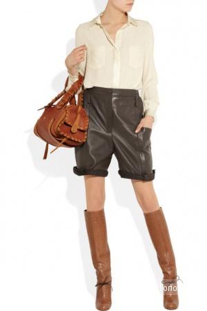 Кожаные шорты Chloe, размер 40FR