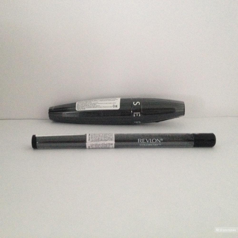 Набор косметики для глаз: тушь Sephora, подводка Revlon