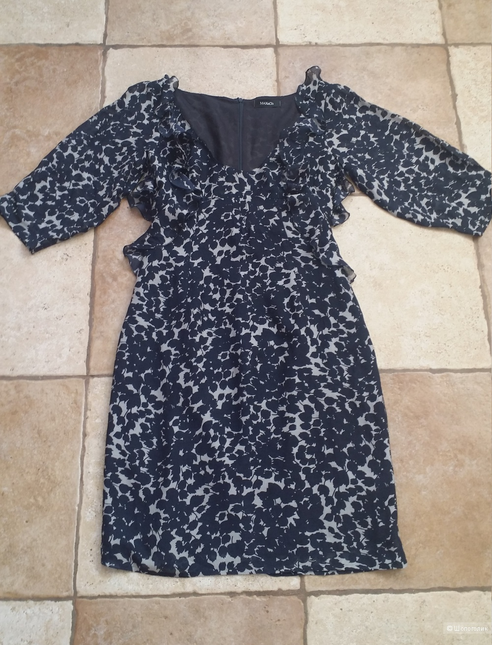 Шелковое платье  Max&Co,  44 размер