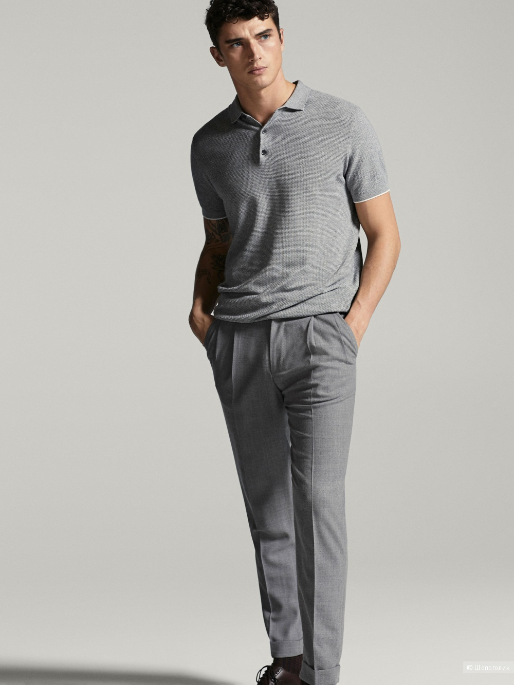 Мужское поло Massimo Dutti в размере L