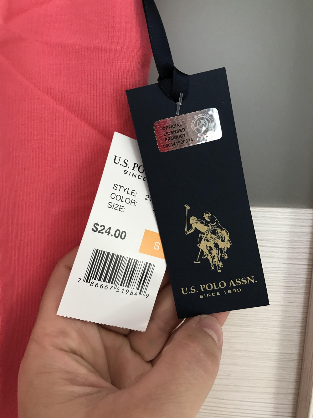 Футболка us polo assn, размер s