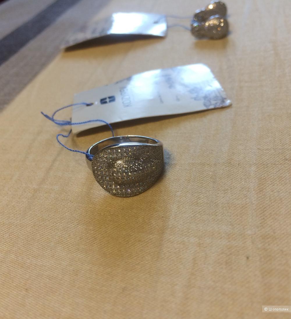 Сет кольцо и серьги KOZYREV серебро 925, родий
