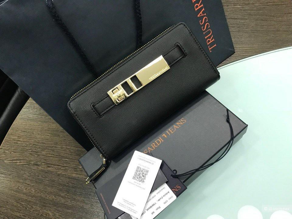 Женский кошелек Trussardi Jeans, размер 20 см х 10 см