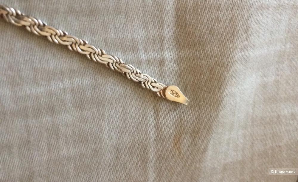 Браслет-змейка серебро 925 19 см