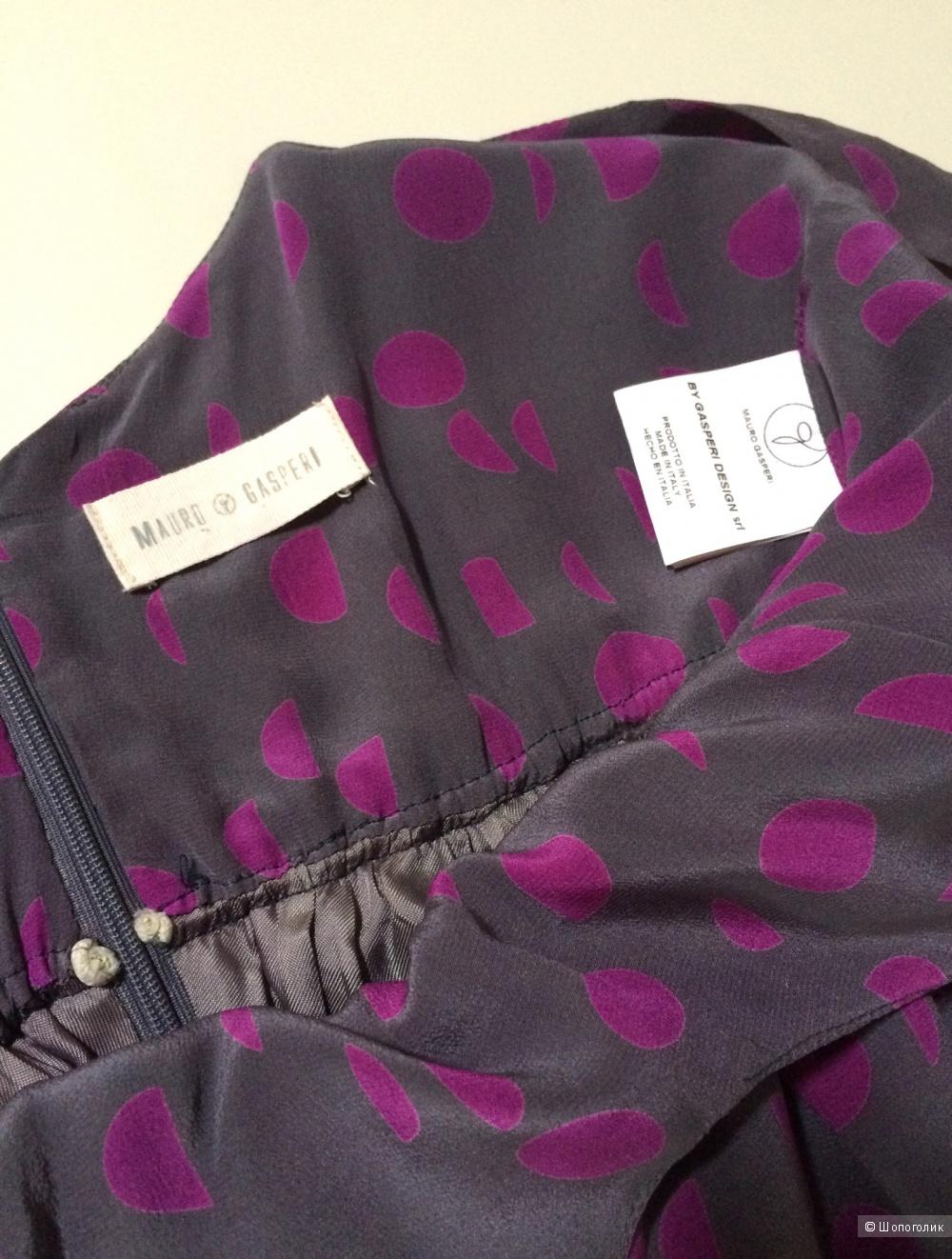 Шелковое платье  Mauro Gasperi,размер 42it 42-44-46