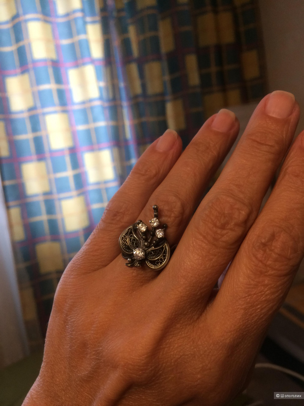 Кольцо и серьги винтаж серебро 875, фианиты