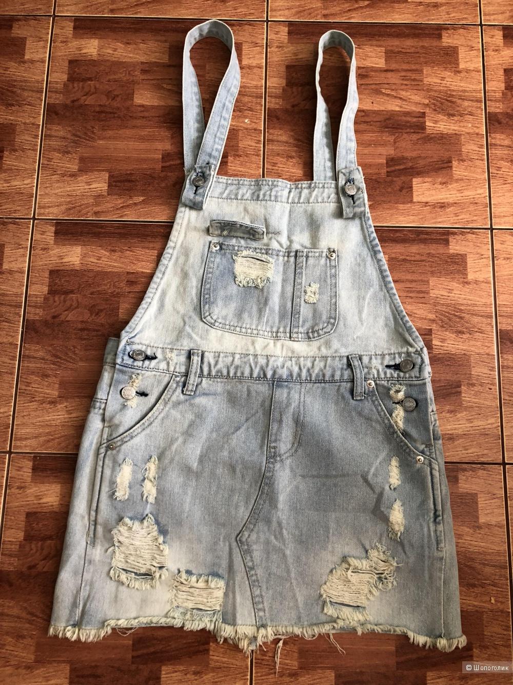 Джинсовая юбка - сарафан Coudian, размер М