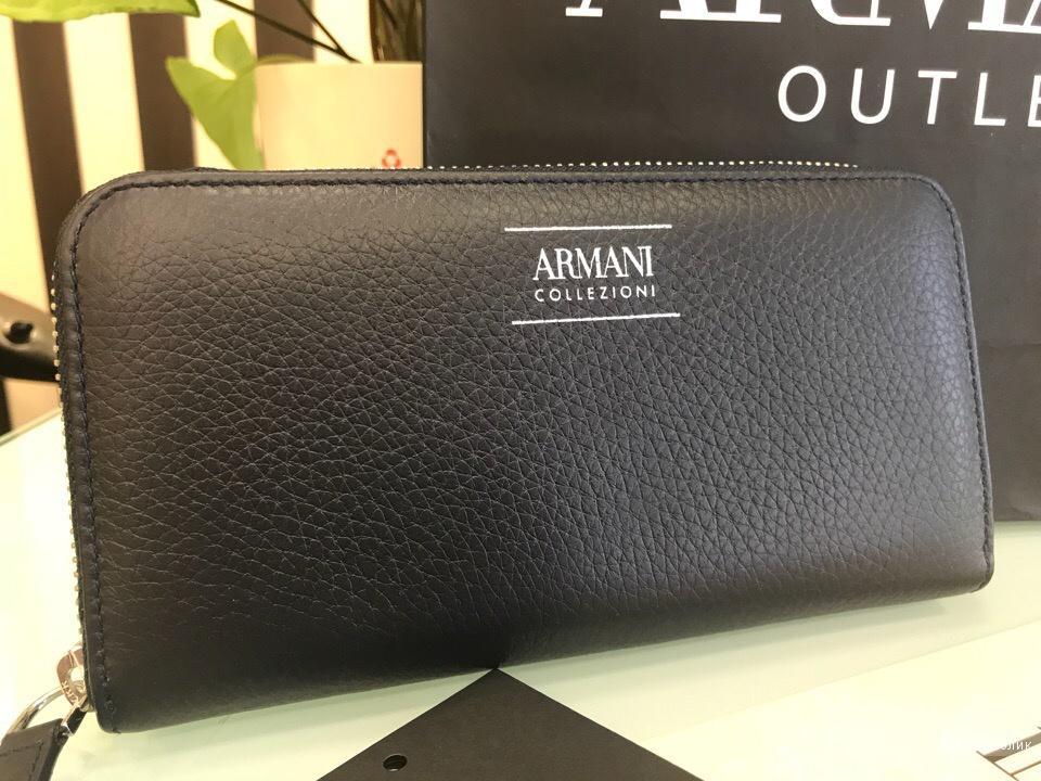 Женский кошелек Armani Collezioni, размер 18,5 см х 9,5 см