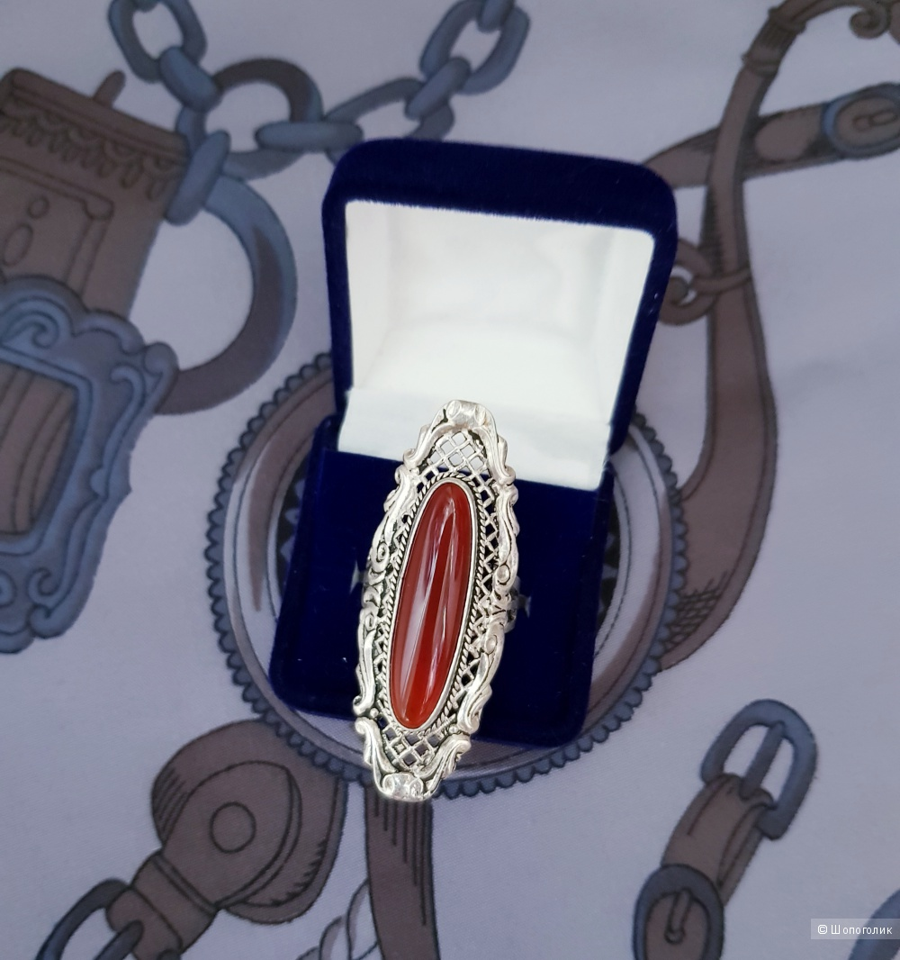 Перстень серебряный 925 проба размер 18/19
