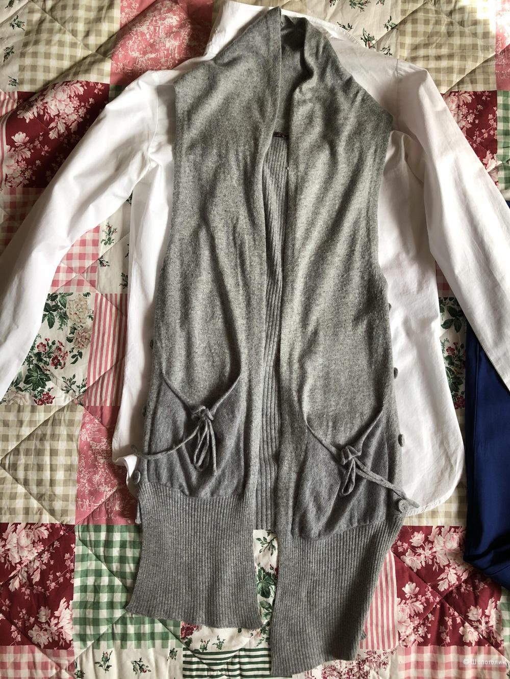 Сет брюки Gant, рубашка Pologarage, жилетка Amado, S