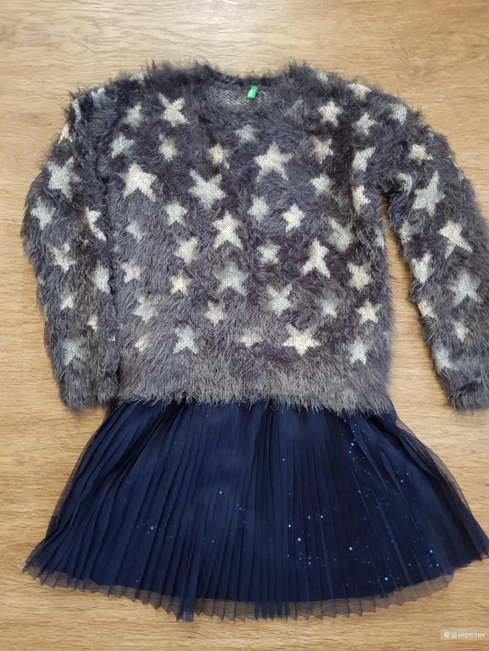 Комплект джемпер и платье, Beneton, 140-146 см