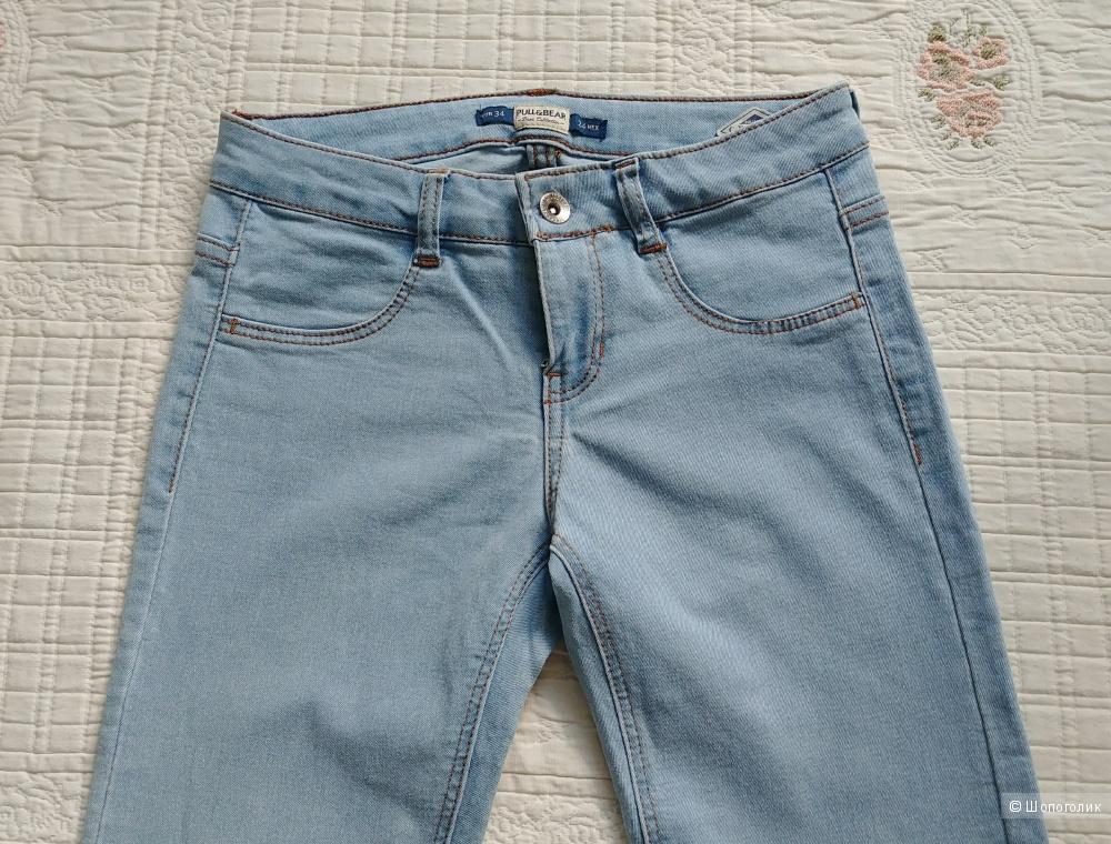 Джинсы Pull & bear, размер 24, цвет голубой